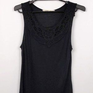 Old Navy Med Black Sleeveless Tunic Top